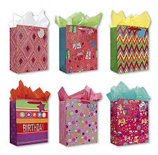 present bags birthday party gift bags set of 6 large birthday gift bags w