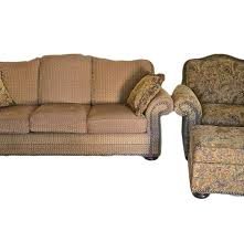 Sofa And Armchair Set Earth Toned Paisley Massoud Sofa And Armchair Set Ebth
