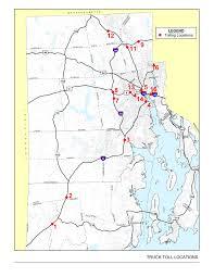 Ri Map First Of Rhode Island U0027s Trucks Only Tolls To Begin December