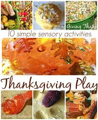 thanksgiving activities and sensory play for kids
