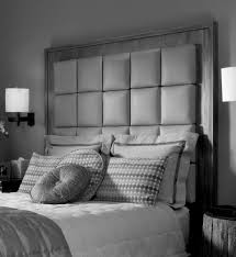 Headboards Bedroom Tall Upholstered Headboards In Gray Matched With White