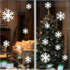 online shop 14x snowflakes vinyl wall stickers christmas snow diy