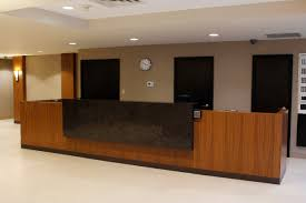 Rounded Reception Desk by Custom Reception Desks For Your Office Lobby Or Small Business