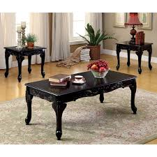 3 piece end table set gracewood hollow macdonald classic 3 piece coffee and end table set