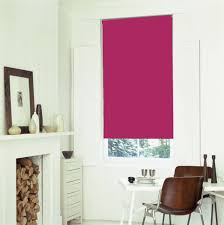 bright pink fuschia blackout roller blind with thermal insulating