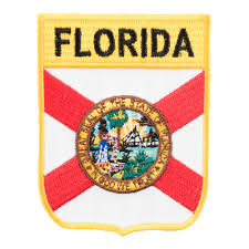 Florida Flag Facts Florida State Flag Shield Patch 50 State Flag Patches