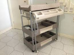 Metal Changing Table Baby Change Table With Bath And Storage White Rs Floral Design