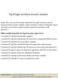 legal assistant resume sample legal resumes legal secretary