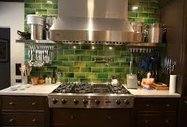 kitchen backsplash glass subway tile green glass subway tile with maple cabinets tile backsplash ideas
