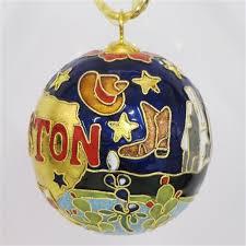 Wholesale Christmas Decorations Houston Tx by Houston Tx Round Cloisonne Ornament