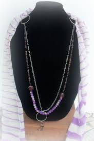 how to make a beaded scarf necklace diy scarf necklace youtube
