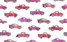 white girly cars girly toy cars in watercolor on white wallpaper micklyn