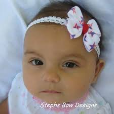 infant hair white blue infant hair bow stephs bow designs