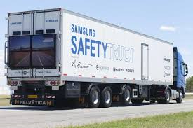 truck samsung u0027s u0027invisible u0027 truck that you can see right through