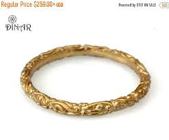 thin gold wedding band gold stack ring scrolls 18k thin wedding band 14k yellow gold