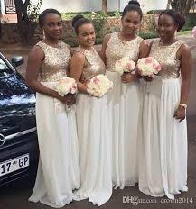 sequin bridesmaid dresses 2016 sequin bridesmaid dresses gold white chiffon bridesmaids