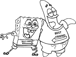 spongebob valentines day coloring pages coloring for kids 7814