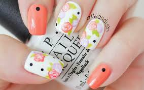 easy floral nails with a toothpick youtube