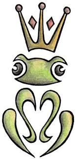 amazing tribal frog design