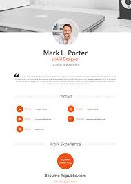 Resume Template Website Resume Republic Awesome Online Resume Templates