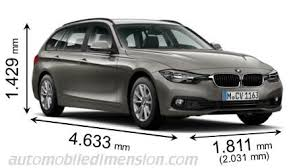 bmw 3 series touring boot capacity dimensions of bmw cars showing length width and height