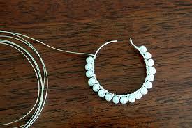 hoop beaded earrings beaded earring tutorial how to make beaded hoop earrings