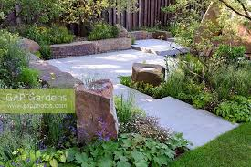 gap gardens the m and g garden large stone seats and bird bath
