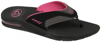 reef fanning flip flops womens reef fanning women s sandal black grey berry for sale at