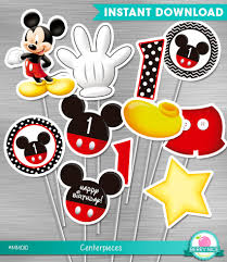 mickey mouse center pieces instant mickey mouse centerpieces birthday