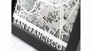 san francisco map framed unique gifts for san francisco on your list