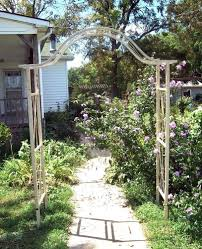 garden arbor with gate home outdoor decoration