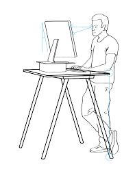 lovely ergonomic standing desk setup with ergonomic desk height lp