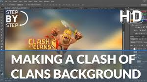 clash of clans wallpaper background photoshop tutorial how to make a clash of clans wallpaper youtube