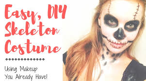 try this easy diy skeleton makeup for a quick costume with items you already