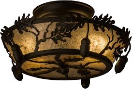 bronze and silver light fixtures meyda tiffany 160484 oak leaf acorn rustic oil rubbed bronze