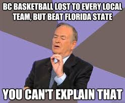 Florida State Memes - bc basketball lost to every local team but beat florida state you
