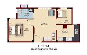 South Facing House Floor Plans Apartments With Private Terrace Garden In Chennai Near Pallavaram