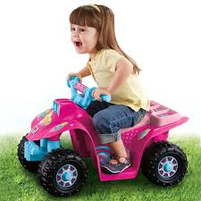 pink toddler car power wheels cdy13 barbie pink lil quad