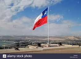 Chilian Flag Overview Chilean Flag Cannon El Morro Mountain Landmark