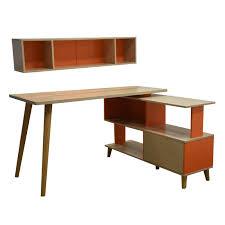 study table l hansel l shaped study table w 2 wall shelves star living