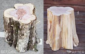 Tree Stump Nightstand Diy Tree Stump Side Tables U2013 A Beautiful Mess