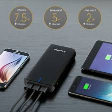 easyacc quick charge 20000mah portable external battery with 3