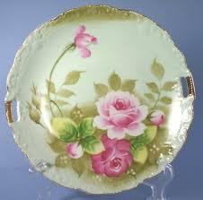 lefton china pattern vintage lefton china painted heritage green 719 9 handled cake