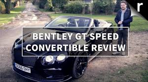 bentley continental gt speed black edition convertible review