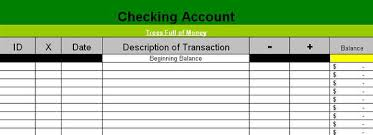 Checking Account Balance Sheet Template My Simple Excel Based Check Book Registry Spreadsheet Trees