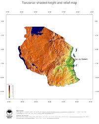 Map Of Tanzania Map Tanzania Ginkgomaps Continent Africa Region Tanzania
