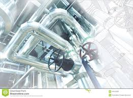 Pipe Design Sketch Of Piping Design With Industrial Equipment Photo Stock