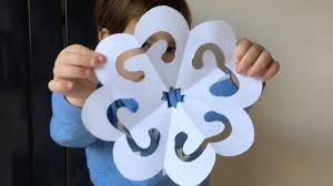 easy paper snowflake tutorial for kids christmas crafts youtube