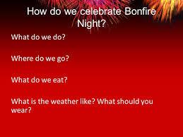 bonfire activities discuss what children already about