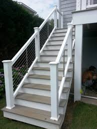Outside Banister Railings The Steel Cable Railing Is A Good Traditional Modern Mix Steel